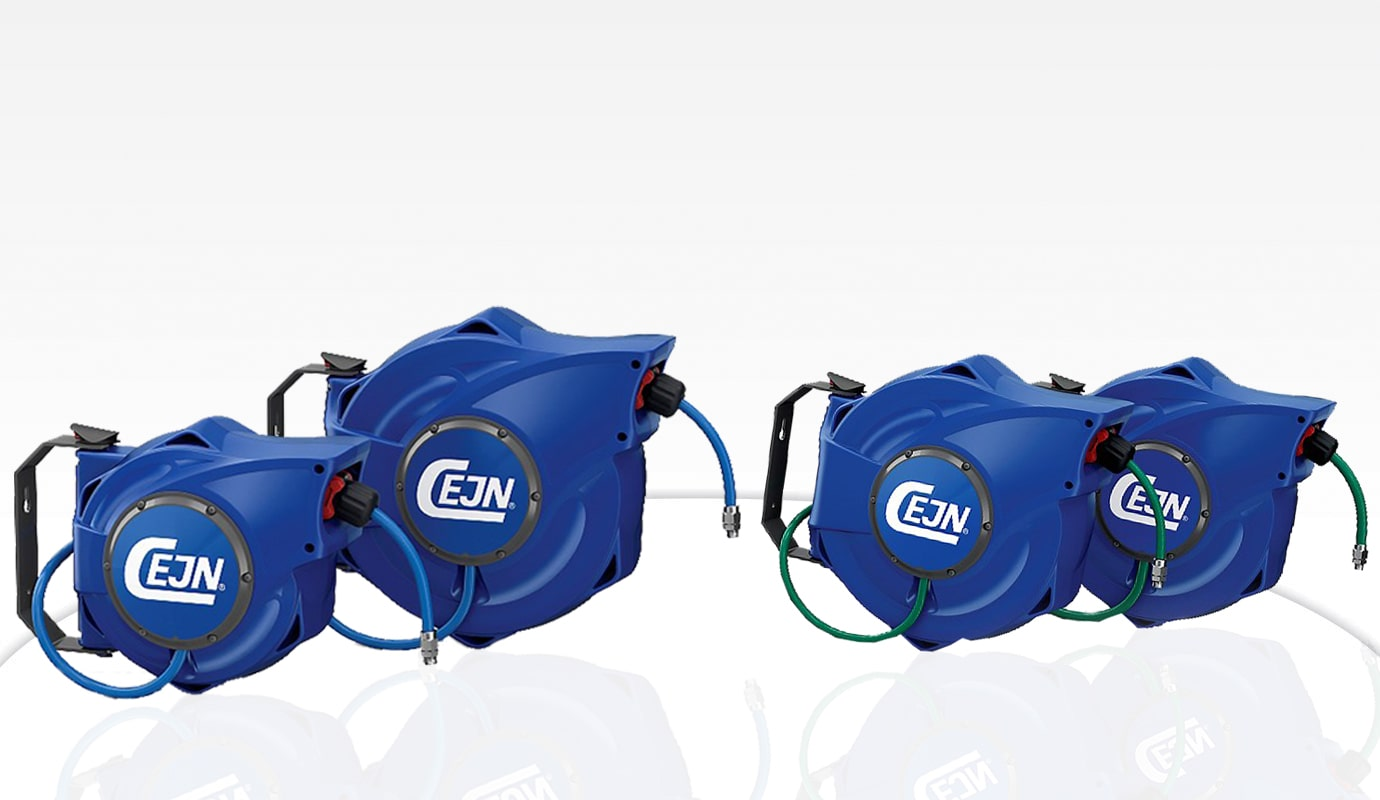 Compressed and water air hose reels